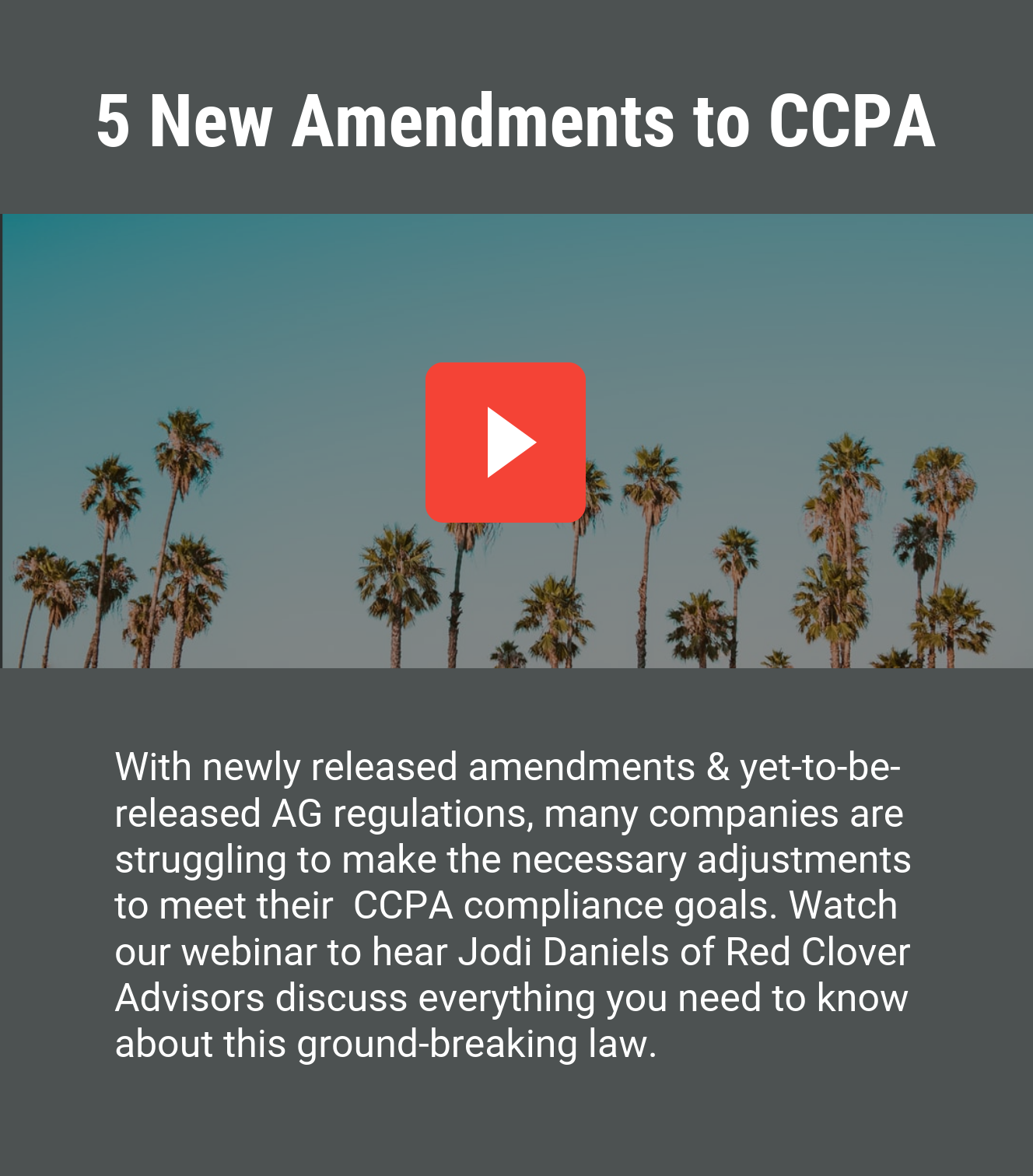 New Amendments to CCPA