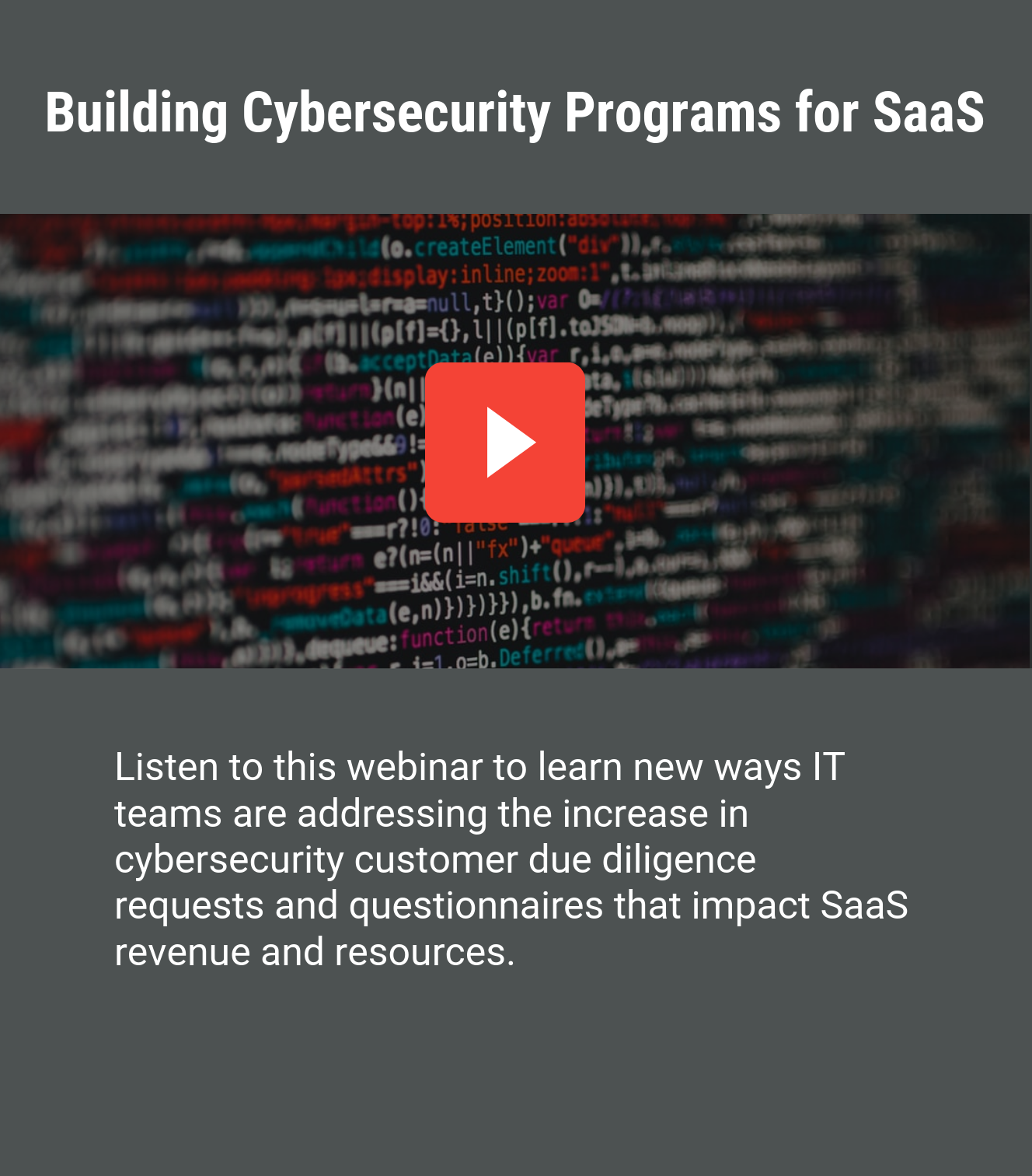 Building cybersecurity programs for SaaS