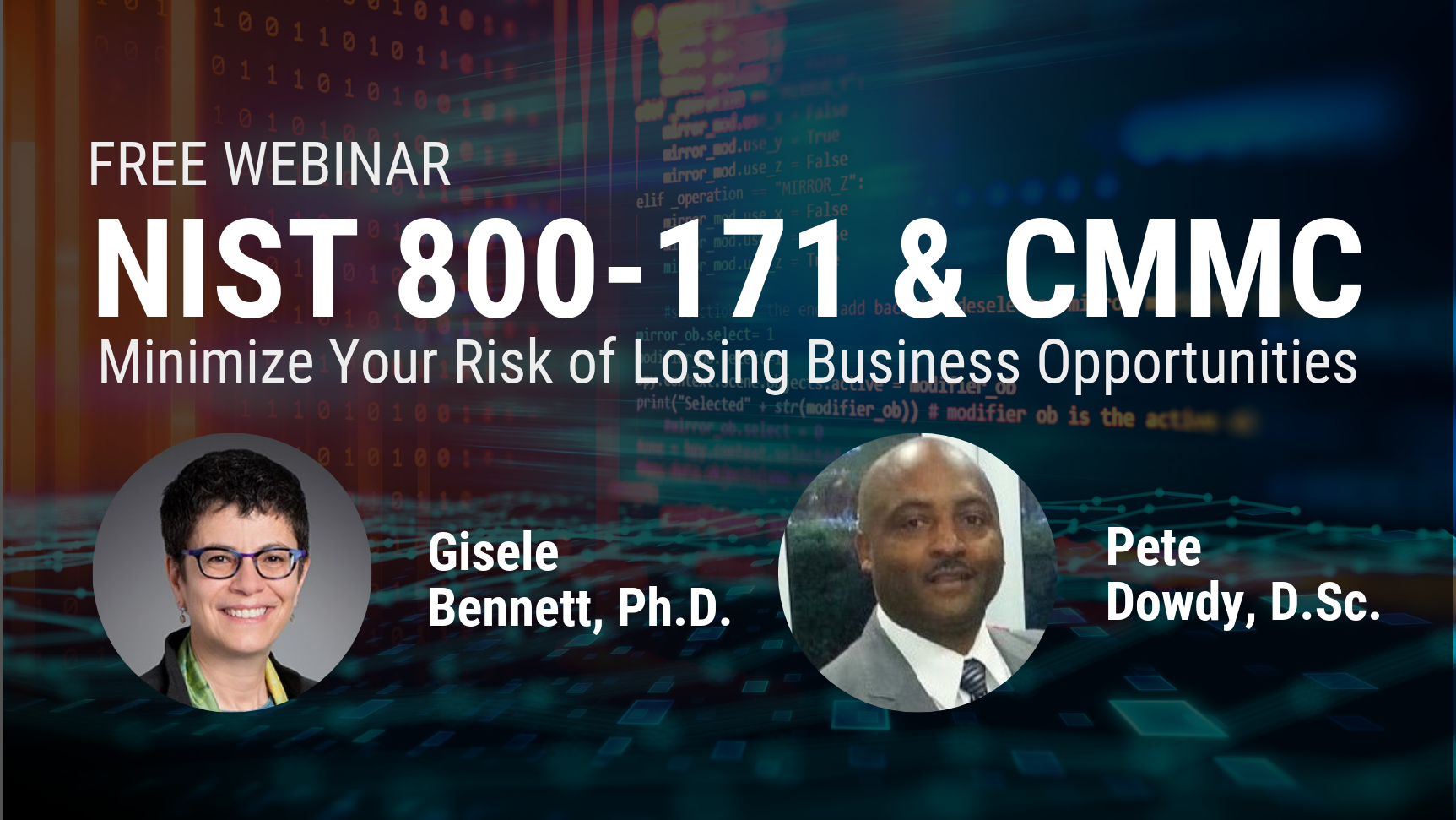 Cybersecurity Webinar:  NIST 800-171 & CMMC